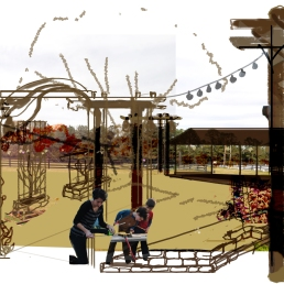 storybook garden proposal sketch